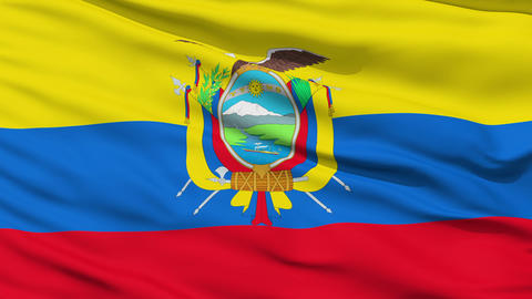 Waving national flag of Ecuador Stock Video Footage