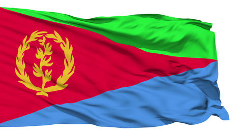 Waving national flag of Eritrea Stock Video Footage