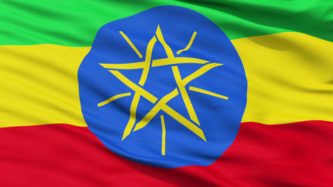 Waving national flag of Ethiopia Animation