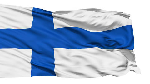Waving national flag of Finland Stock Video Footage