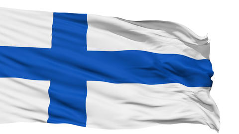 Waving national flag of Finland Animation