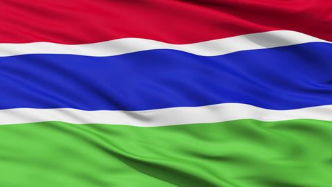 Waving national flag of Gambia Animation