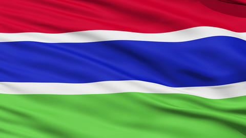 Waving national flag of Gambia Stock Video Footage