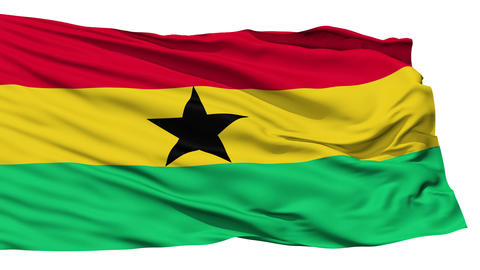 Waving national flag of Ghana Stock Video Footage
