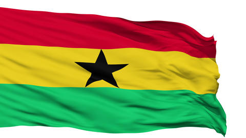 Waving national flag of Ghana Animation
