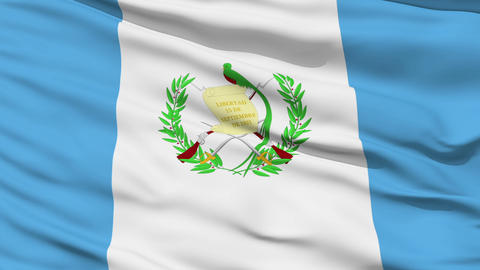 Waving national flag of Guatemala Stock Video Footage