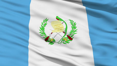 Waving national flag of Guatemala Animation