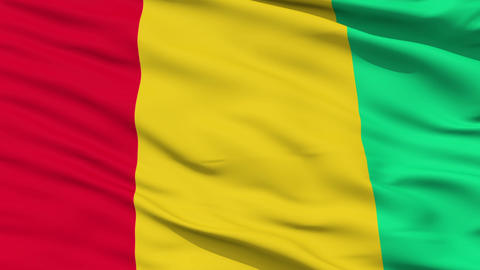 Waving national flag of Guinea Animation