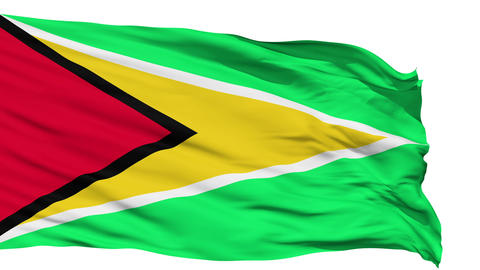 Waving national flag of Guyana Stock Video Footage