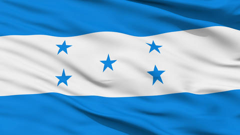 Waving national flag of Honduras Animation
