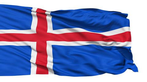 Waving national flag of Iceland Stock Video Footage