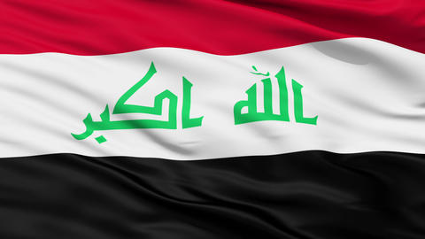 Waving national flag of Iraq Stock Video Footage