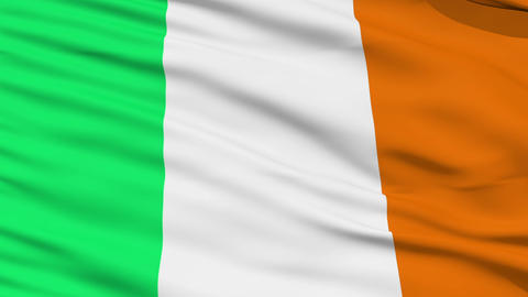Waving national flag of Ireland Stock Video Footage