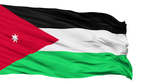 Waving national flag of Jordan Stock Video Footage