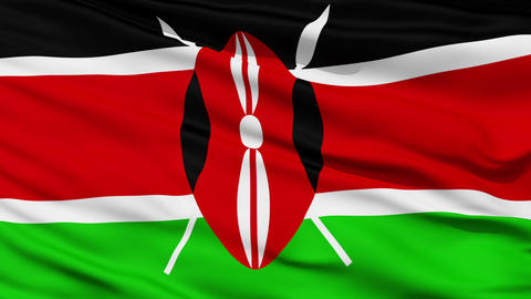 Waving national flag of Kenya Stock Video Footage