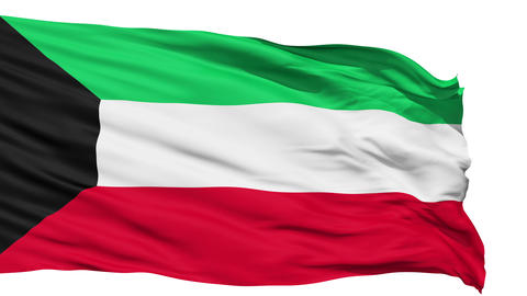 Waving national flag of Kuwait Stock Video Footage