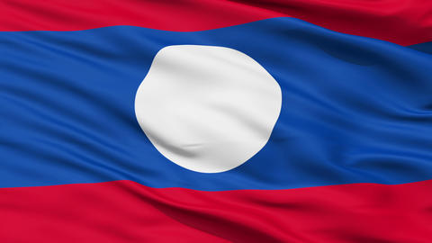 Waving national flag of Laos Animation