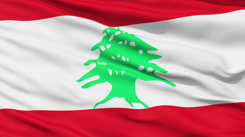Waving national flag of Lebanon Stock Video Footage