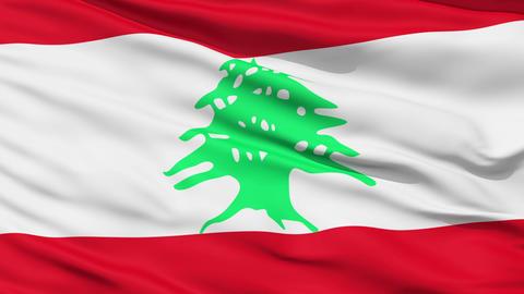 Waving national flag of Lebanon Stock Video Footage