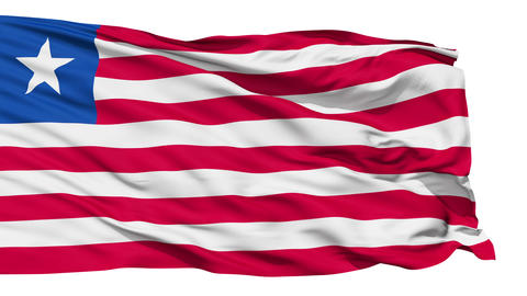 Waving national flag of Liberia Stock Video Footage