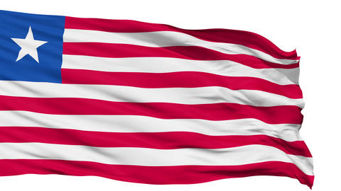 Waving national flag of Liberia Animation
