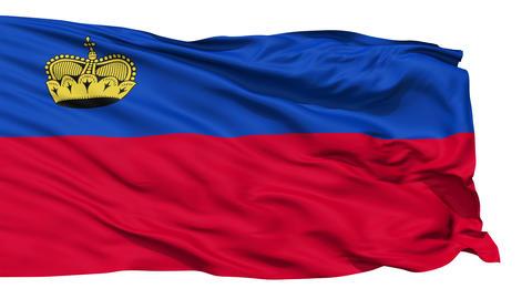 Waving national flag of Liechtenstein Stock Video Footage