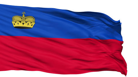 Waving national flag of Liechtenstein Animation