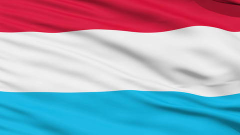 Waving national flag of Luxembourg Stock Video Footage