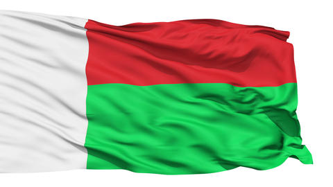 Waving national flag of Madagascar Stock Video Footage
