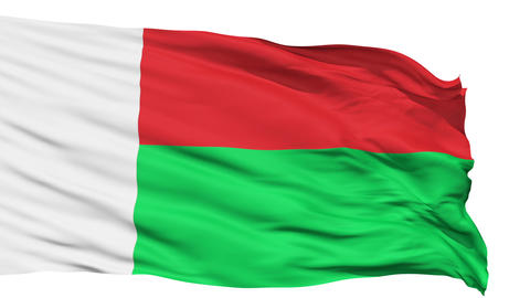 Waving national flag of Madagascar Animation