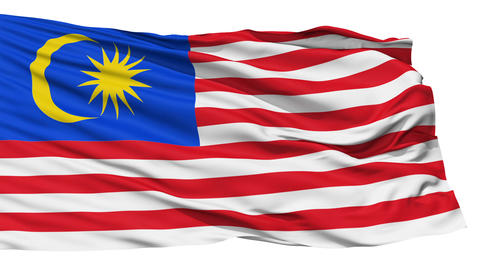 Waving national flag of Malaysia Stock Video Footage