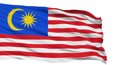 Waving national flag of Malaysia Animation