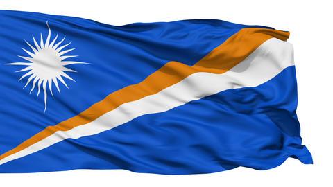 Waving national flag of Marshall Islands Stock Video Footage