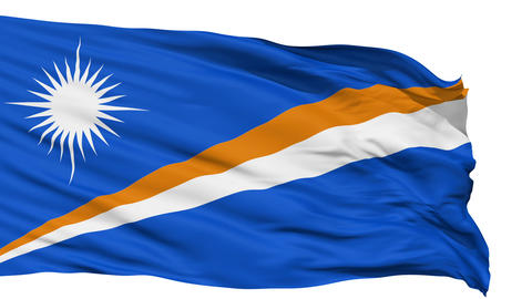 Waving national flag of Marshall Islands Animation