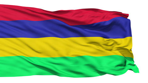 Waving national flag of Mauritius Stock Video Footage