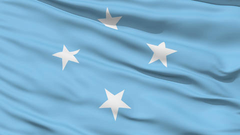 Waving national flag of Micronesia Stock Video Footage