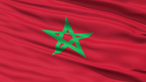 Waving national flag of Morocco Stock Video Footage