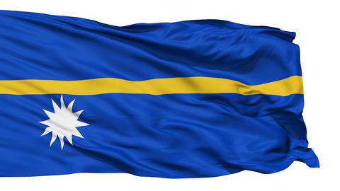 Waving national flag of Nauru Stock Video Footage