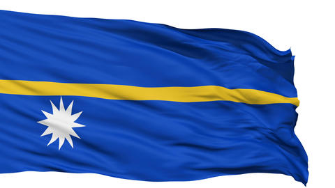 Waving national flag of Nauru Animation