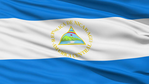 Waving national flag of Nicaragua Stock Video Footage