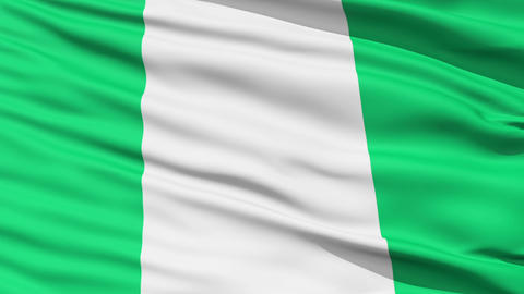 Waving national flag of Nigeria Stock Video Footage