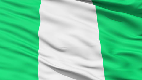 Waving national flag of Nigeria Animation