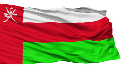 Waving national flag of Oman Stock Video Footage