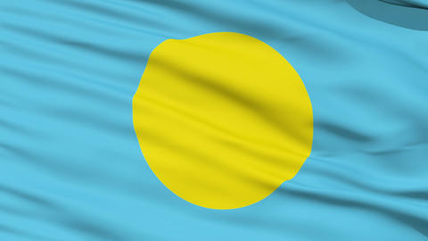 Waving national flag of Palau Stock Video Footage