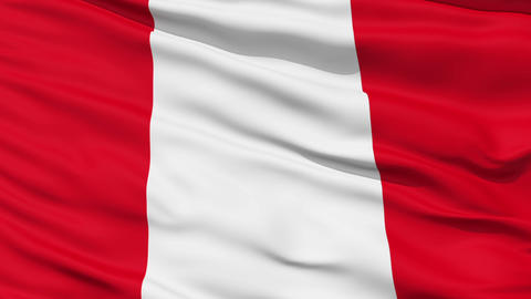 Waving national flag of Peru Stock Video Footage