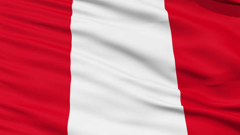Waving national flag of Peru Stock Video Footage