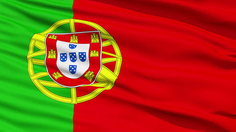 Waving national flag of Portugal Stock Video Footage