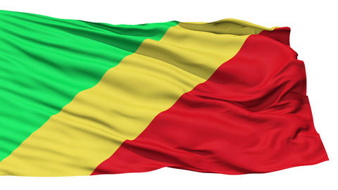 Waving national flag of Republic of Congo Stock Video Footage