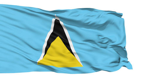 Waving national flag of Saint Lucia Stock Video Footage