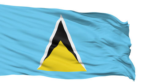 Waving national flag of Saint Lucia Animation